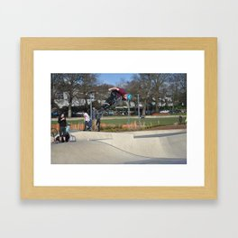 BMX out of the Bowl  Framed Art Print