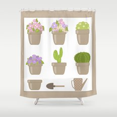 A wonderful design for those who are fond of plants , flowers . Shower Curtain