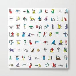 Egyptian hieroglyphics pattern Metal Print