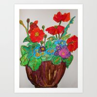Poppies full of Joy Art Print
