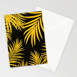 Palm Leaves Pattern Yellow Vibes #1 #tropical #decor #art #society6 Stationery Cards