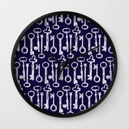 Keys Pattern Wall Clock