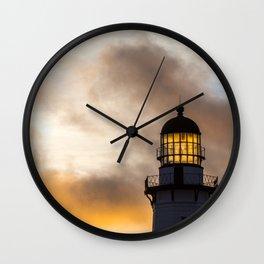 Golden Light Wall Clock