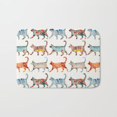 Cat Collection: Watercolor Bath Mat
