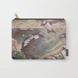 Cliffside Puffins Carry-All Pouch