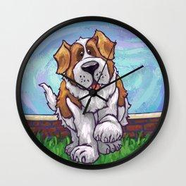 Animal Parade St. Bernard Wall Clock