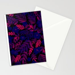 Neon Floral Print Stationery Cards
