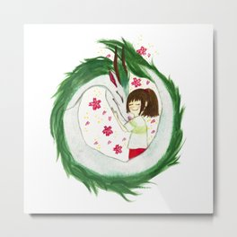 Watercolor Spirited Away - The Love Gathering Metal Print