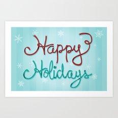 Holiday Ribbon Art Print