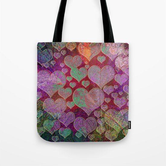 Hearts pattern Tote Bag