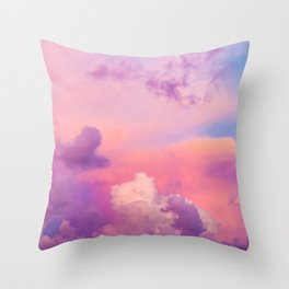 Pink & Purple Clouds Throw Pillow