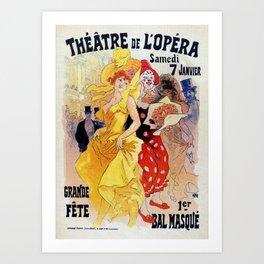 1897 Carnaval Ball Paris Opera Art Print