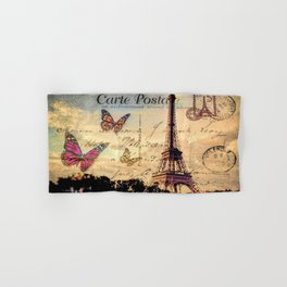 Vintage Paris-Carte Postale Hand & Bath Towel