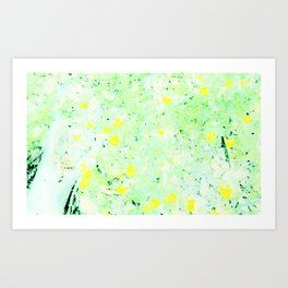 Yellow in the Meadow Art Print