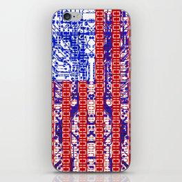 digital Flag (USA) & circuit board. iPhone Skin