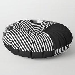 Geometric abstraction, black and white Floor Pillow