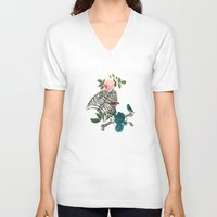 romantic V-neck T-shirts featuring Romantic Halloween by Paula Belle Flores