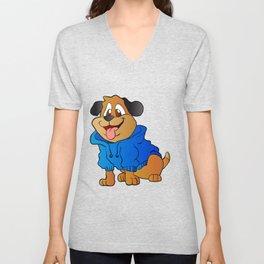 fashion dog Cartoon . Unisex V-Neck