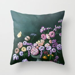 Blooming Bunch Throw Pillow