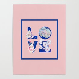 Floral LOVE #society6 #love #floral Poster