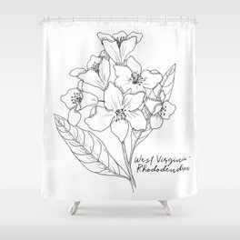 West Virginia Rhododendren State Flower By Journey Home Made Shower Curtain