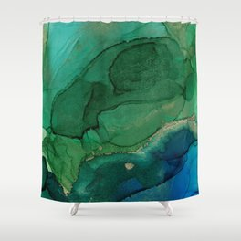 Ocean gold Shower Curtain