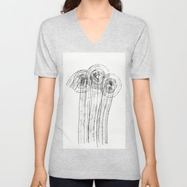 Loneliness Fears 1 Unisex V-Neck