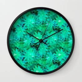 Woodruff in Blue & Green - IA Wall Clock