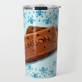 Bourbon biscuits on a plate for tea time Travel Mug