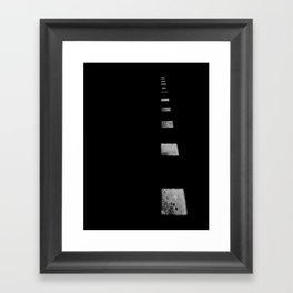 Minimalist Shadows Framed Art Print