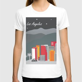 Los Angeles, California - Skyline Illustration by Loose Petals T-shirt