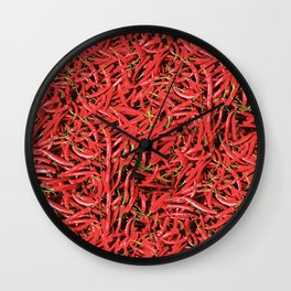 Red Hot Chilli Design Wall Clock
