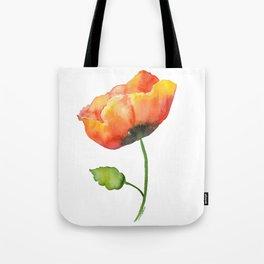 Poppy Watercolor Tote Bag