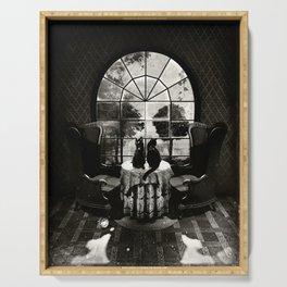 Room Skull B&W Serving Tray