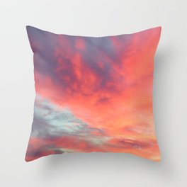 Angels in the Morning: Sunrise Throw Pillow