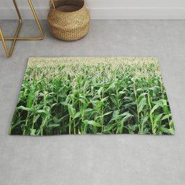 Corn -  Maize -  Crop -  Grow -  Agriculture -  Grain -  Food - Vintage illustration. Retro décor. Rug