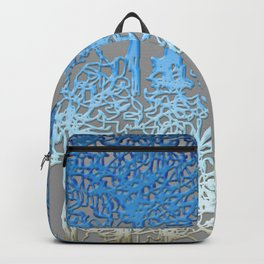 Blue and white forest Backpack