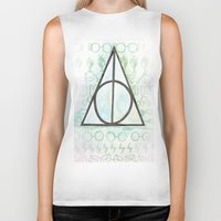 deathly hallows Biker Tanks featuring Deathly Hallows by Carmen McCormick