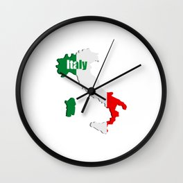 Italy map Wall Clock
