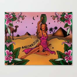Tattoo Aquarius Canvas Print