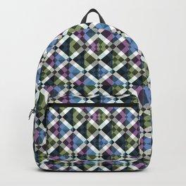 Retro Box Star Pattern Backpack