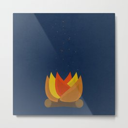 Camping Series: fire Metal Print