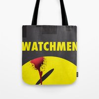 watchmen Tote Bags featuring Watchmen by Thcenk