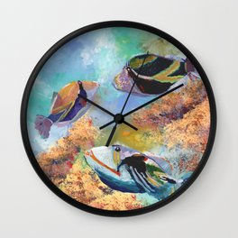 Humuhumu Tropical Fish 3 Wall Clock