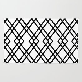 Garden Gate in Balck and White Rug