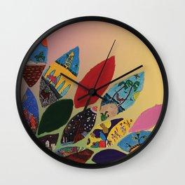 Petals y Petalos Wall Clock