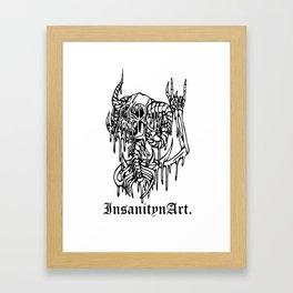 Insanity n Art's Original Melting Metalcore Skeleton.  Framed Art Print