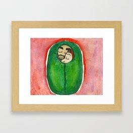 Sterek Sleeping Bag Burrito  Framed Art Print
