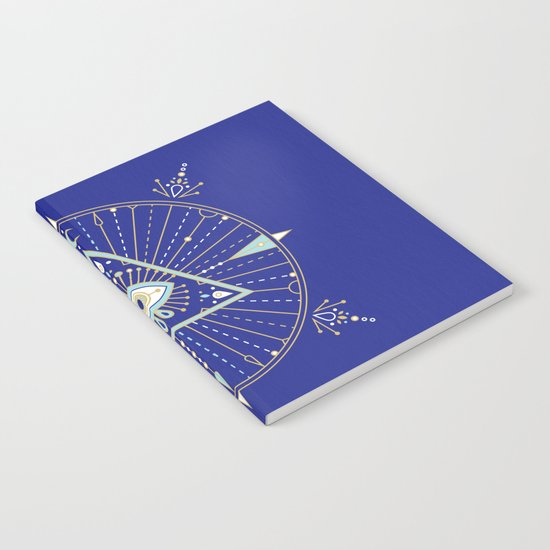 Evil Eye Mandala – Navy Notebook