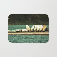 Boats on the Dock Bath Mat
